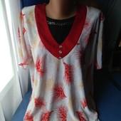 Всё одним лотом (2 блузки+ рубашка), р.50-52