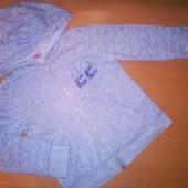 F&F кофта на молнии с капюшоном для девочки, на 6-7лет,на рост 122
