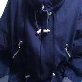 Демисезонная куртка-парка фиолетового цвета на XL