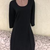 Шикарное чёрное фактурное платье миди Zizzi. Великобритания
