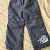 Штани теплі на підкладці на зріст 104 см або 3-4 роки в стані нових