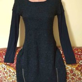 буклированное тёплое платье пог. 44
