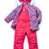 Качественный красивый теплый зимний комплект Модный карапуз для девочки 2-3 года
