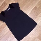 Чёрное джинсовое платье для девочки трёх лет рост 98 см