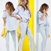 Джинсовая рубашка оверсайз esmara от хайди клум, р. 42 евро
