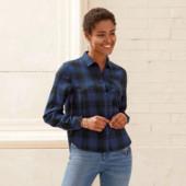 Стильная фланелевая рубашка,тренд этого сезона Esmara размер евро 40!в упаковке!