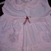 Легкое Платье 9-12мес.смотрите замеры