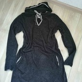 Тёплое платья - туника с капюшоном /While Jtuff/L!!!