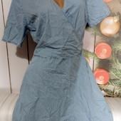 Вау! Обалденное платьице из лёгкого джинса размер 48