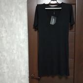 Фирменное новое трикотажное вискозное платье р.34(6-10)