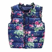 Модная жилетка для девочки в цветок