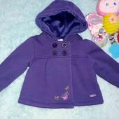 Шикарное пальто на малышку 3-6 мес(будет дольше)