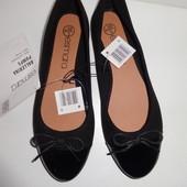Уценка ! Esmara Германия 37р-24см стильные балеточки, цвет черный