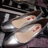 Класснючие туфли серебро очень крутые чит.опис