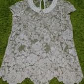 стильная кружевная блузка р. XS