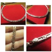 Шикарный серебряный браслет -серебро 925пр.