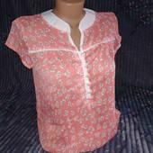 Повітряна шифонова блуза з коротким рукавом