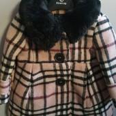 Шикарные шерстяное пальто размер 0-6, 6-12