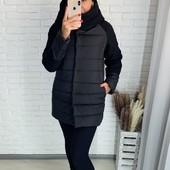 ✨Шикарная зимняя куртка! 42-44, 46-48, 50-52 рр✨ чёрная, серая, пудра 1 на выбор!