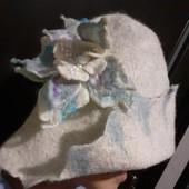 Для любителей бани! Шапка для бани баня парилка сауна вяленая ручной работы 100% шерсть