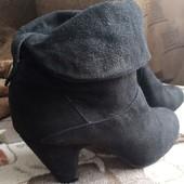 Ботиночки,36 р,замша,осень-весна,без дефектов