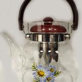 Чайник - заварочный, заварник для чая с фильтром ситечком unique - 1183 на 1,1 литр