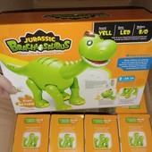 Музыкальная игрушка динозавр 30 см ходит, двигает челюстью и хвостом