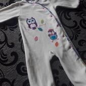 Пижама флис на 2- 3 года