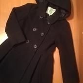 Mini B. Пальто для девочки, на 6-7лет на рост 116-122, цвет темно синий