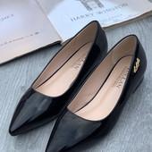 Женские туфли балетки с острым носом 34 35 36 37 38 39 40