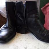 Ботинки кожаные демисезонные размер 38