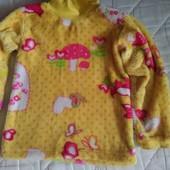 теплый, пушистый свитерок на 4-6 лет