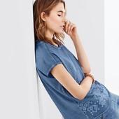 ☘ Якісна блуза з декоративною вишивкою 100% бавовна, Tchibo (Німеччина), р. наші: 48-52 (40/42 євро)