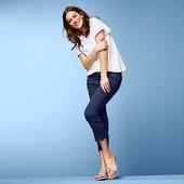 ☘ Якісні стрейч-джинси з вишивкою, довжина 7/8 від Tchibo (Німеччина), розмір наш: 42-44 (36 євро)
