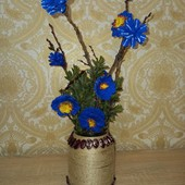 Декоративный букет в вазе