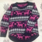 Тёплый свитер с оленями, р. 46-48
