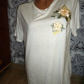 Белоснежная, красивая футболка TU, размер 18. Наш 50
