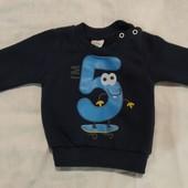 свитер кофта 6-9 месяцев
