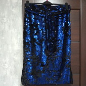 Фирменная новая красивая юбка с поясом в пайетках р.16
