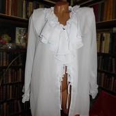 Белая блузка, воланы, шифон