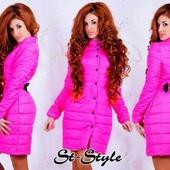 Стильная куртка-пальто на синтепоне холодная осень