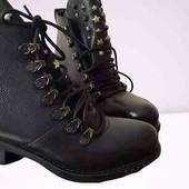 Кожаные ботинки made in Italy.Последняя пара!