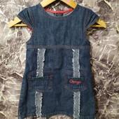 Фирменный джинсовый сарафан платье