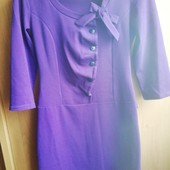 Чудесное платье!! Р44-46. Цвет темно фиолетовый