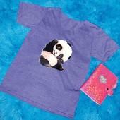 Суперская футболка с пандочкой,на девочку подростка или худенькую девушку,XS-S