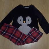 Пижама George кофта флисовая штаны-байка состояние очень хорошее
