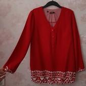 Красивая красная блуза , приятная вискоза ! УП скидка 10%
