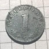 Монета Германии 1 пфенинг 1941