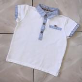 Стоп !❤ Стильная Фирменная рубашка/поло,1-2года❤ Много лотов!