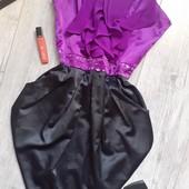 Крутое платье бюстье с рюшами камни есть кармашки силиконовая прослойка по верху платья